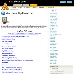 PHP Best Codes