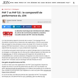 PHP 7 vs PHP 5.6 : le comparatif de performance du JDN