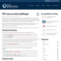 PHP crear un sitio multilingue