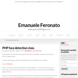 PHP face detection class