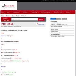 PHP GD gif