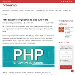 TOP 30 PHP Interview Questions and Answers 2020
