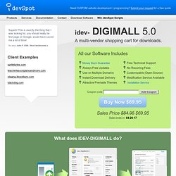 Multi Vendor Digital Download Store idev-DigiMall 2.0