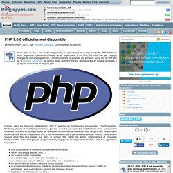 PHP 7.0.0 officiellement disponible