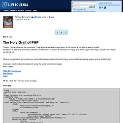 php: The Holy Grail of PHP