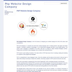 Eminent PHP Website Design Company