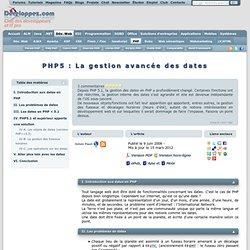 PHP5 : La gestion avancée des dates