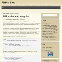 PHPMailer in CodeIgniter - PHP's Blog