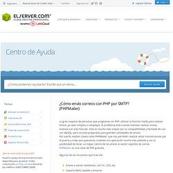 ¿Cómo envío correos con PHP por SMTP? (PHPMailer) - ELSERVER.COM