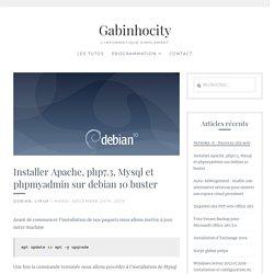 Installer Apache, php7.3, Mysql et phpmyadmin sur debian 10 buster - Gabinhocity