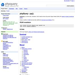phpquery - phpQuery - jQuery port to PHP