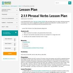ESL Phrasal Verbs Lesson Plan