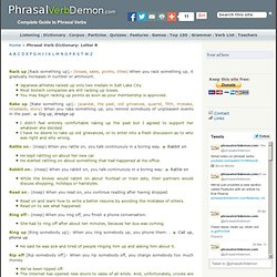 Phrasal Verb Demon. Complete guide to phrasal verbs. Phrasal Verb Dictionary
