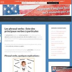 Phrasal verbs ! What's ?