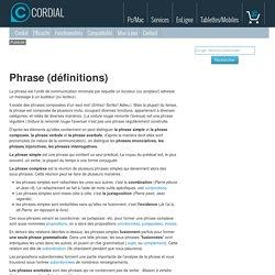 Phrase (définitions)