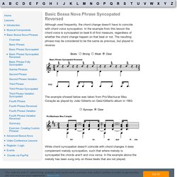 Basic Bossa Nova Phrases: Basic Phrase Syncopated Reversed