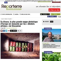 En Alsace, la plus grande nappe phréatique d'Europe est menacée par les «déchets ultimes» de Stocamine