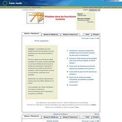 EUROPE - 2009 - Phtalates dans les fournitures scolaires