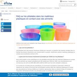 EFSA 10/12/19 FAQ sur les phtalates dans les matériaux plastiques en contact avec des aliments