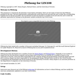 Phthong for LIN100