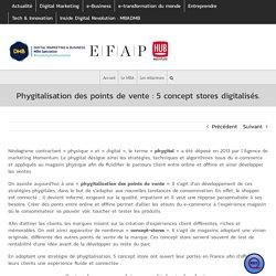 Phygitalisation des points de vente : 5 concept stores digitalisés.