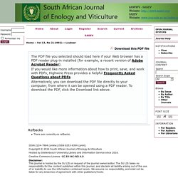 SOUTH AFRICAN JOURNAL OF ENOLOGY AND VITICULTURE - 1992 - Assessing the control potential of Aldicarb against Grapevine Phylloxera