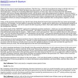 PHYS771 Lecture 9: Quantum
