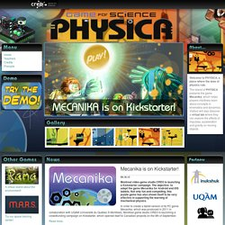 Physica - Virtual world devoted to science, technology and free educational games online
