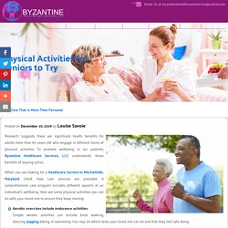 Physical Activities for Seniors to Try