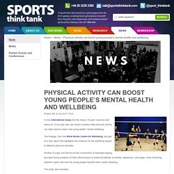 Sports Think Tank - Physical activity can boost young people's mental health and wellbeing