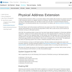 Physical Address Extension
