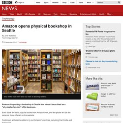 Amazon opens physical bookshop in Seattle