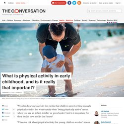 What is physical activity in early childhood, and is it really that important?