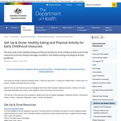 Get Up & Grow: Healthy Eating and Physical Activity for Early Childhood resources