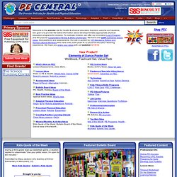The Health and Physical Education Web site for Teachers/PE Central