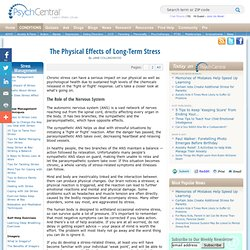 The Physical Effects of Long-Term Stress