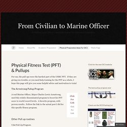 Physical Fitness Test (PFT) & Pullups « From Civilian to Marine Officer