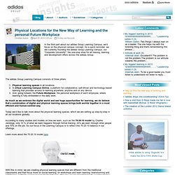adidas - Physical Locations for the New Way of Learning and the personal Future Workplace