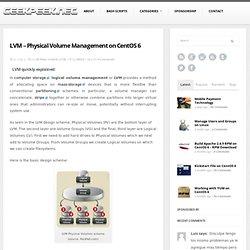 LVM - Physical Volume Management on CentOS 6 - GeekPeek.Net