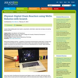 Physical-Digital Chain Reaction using WeDo Robotics with Scratch