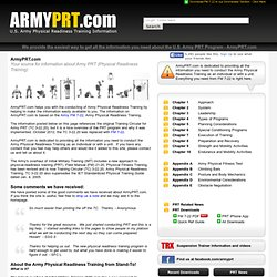 Army PRT (Physical Readiness Training) information at ArmyPRT.com