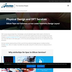 Physical design services expert - Industrial DFM / DFT Solutions in IoT