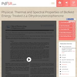 2, 4-Dihydroxyacetophenone XRD Study - Evaluation of Biofield