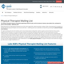 Physical Therapy Mailing Addresses