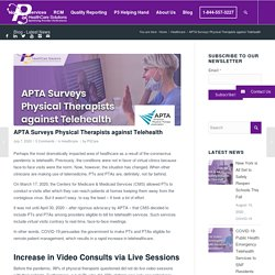 APTA Surveys Physical Therapists against Telehealth