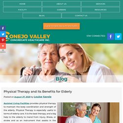 Physical Therapy and Its Benefits for Elderly