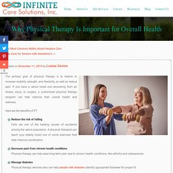 Why Physical Therapy Is Important for Overall Health