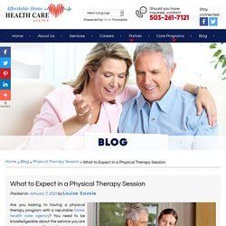 What to Expect in a Physical Therapy Session