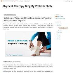 Solution of Ankle and Foot Pain through Physical Therapy from Experts