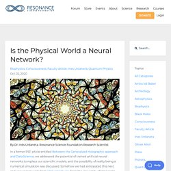 Is the Physical World a Neural Network?